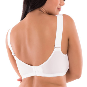Image 2 - Womens Soft Cups Embroibered Wireless Full Coverage Minimizer Bra Size 34 44 B C D DD E