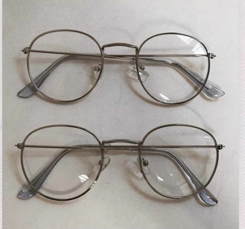 bdbbaf8c93b0 ... 2019 New Designer Woman Glasses Optical Frames Metal Round Glasses  Frame Clear lens Eyeware Black Silver ...