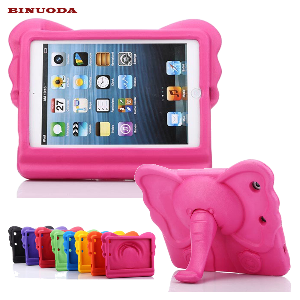 все цены на  For iPad Mini Kids Case 3D Elephant EVA Children Stand Tablet Protective Cover for iPad Mini 4 3 2 1 Coque Funda Drop Resistant  онлайн