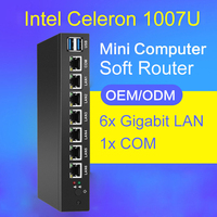 Soft Router Mini PC With 6x Ethernet Gigabit LAN Intel 82583V NIC Multi Network COM Serial