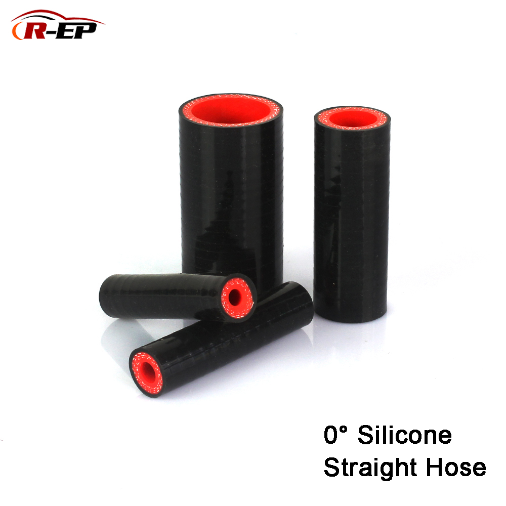 R-EP 6 8 10 12 14 16mm 0 degree Straight Silicone Hose 18-35mm Rubber Joiner Tube for Supercharger Radiator Cold air intake Pipe image