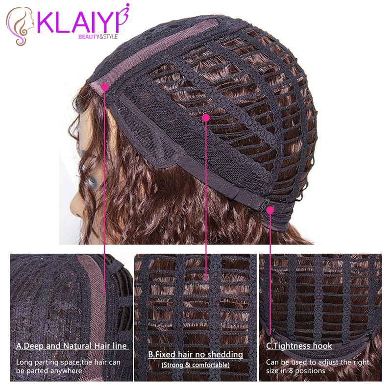 Klaiyi Hair Afro Kinky Curly Hair Wig 6 INCH Short Brazilian Remy Human Hair Wigs Natural Color Avaliable Free Shipping