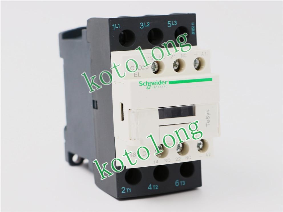 DC Contactor LC1D25 LC1-D25 LC1D25EL LC1-D25EL 48VDC LC1D25FL LC1-D25FL 110VDC ac contactor lc1d80004p7 lc1 d80004p7 230v lc1d80004q7 lc1 d80004q7 380v lc1d80004r7 lc1 d80004r7 440v lc1d80004u7 240v