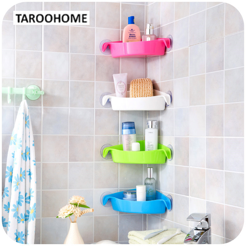 1pc Bathroom Suction Corner Racks Toilet Wall Holder Bathroom Kitchen <font><b>Shelf</b></font> Storage Rack