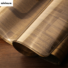 3D European style Gold Upscale Table mats Soft glass waterproof Heat resistant opaque Coffee mats PVC tablecloth free shipping