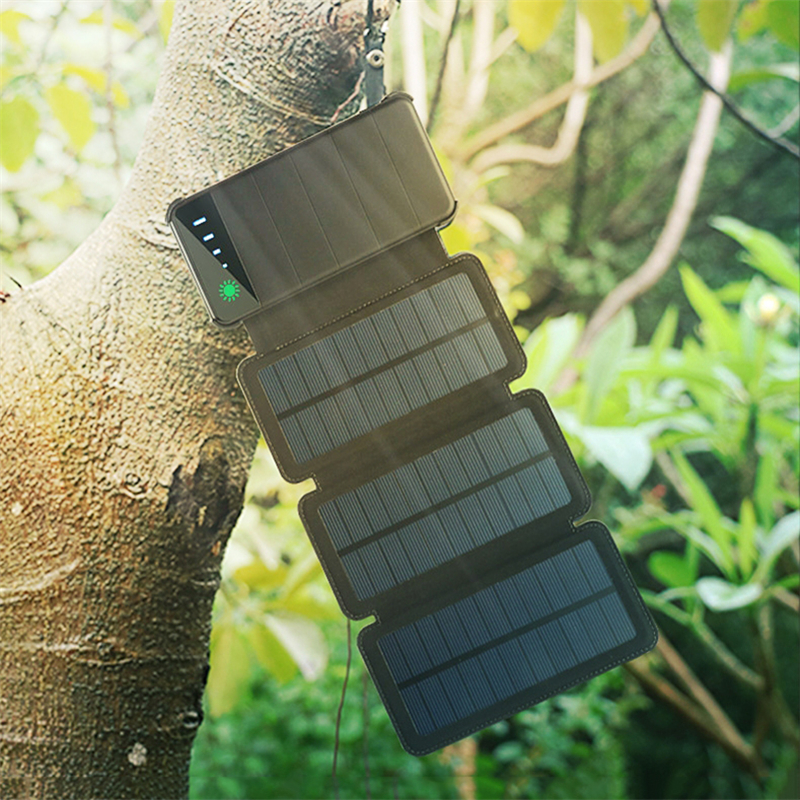 New 10000mAh Folding Solar Panel Charger Portable Outdoor Waterproof Mobile Phone Dual USB Battery Charger LED Solar Power BankNew 10000mAh Folding Solar Panel Charger Portable Outdoor Waterproof Mobile Phone Dual USB Battery Charger LED Solar Power Bank