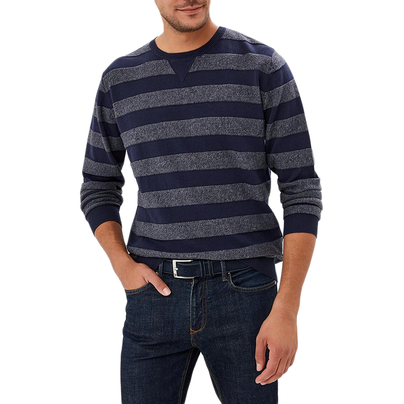 Sweaters MODIS M182M00119 jumper sweater pullover for male for man TmallFS embroidered v neck pullover sweater