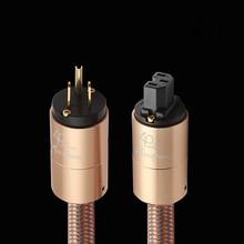 Cable de alimentación de alta gama, cable de alimentación AU, amplificador de audio y CD estándar americano hifi, enchufe europeo y estadounidense
