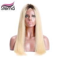 Stema бразильский 1b/613 Ombre блондинка Синтетические волосы на кружеве парик черный корень натуральных волос Прямо человеческих Волосы remy Беспл