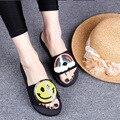 2017 Del Verano Nuevas Flores Hechas A Mano de Las Mujeres Zapatillas de Playa Zapatos de la Mujer de Vacaciones Pisos Baratos