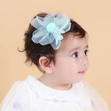 15pcs 3C Fashion Cute Gauze Flower Girls Hairpins Solid Kawaii Fur Pom Pom Balls Chiffon Flower