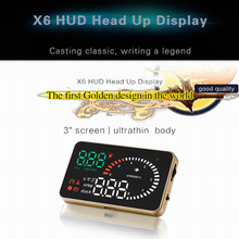 sbhei ASH-X6-2016 Head Up Display Film 3″ HUD Windshield Projector OBD2 Cable Car HUD Head-Up Display