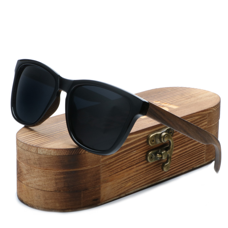 Ablibi Bamboo Wood Semi Rimless Sunglassesfor Men Womens Wooden Shades With Polarized Lenses In Original Boxes