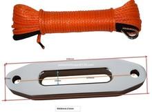 5mm * 15 m Turuncu Sentetik vinç halatı eklemek 4000lbs Hawse Fairlead, ATV Vinç Kablosu, Off Road Halat