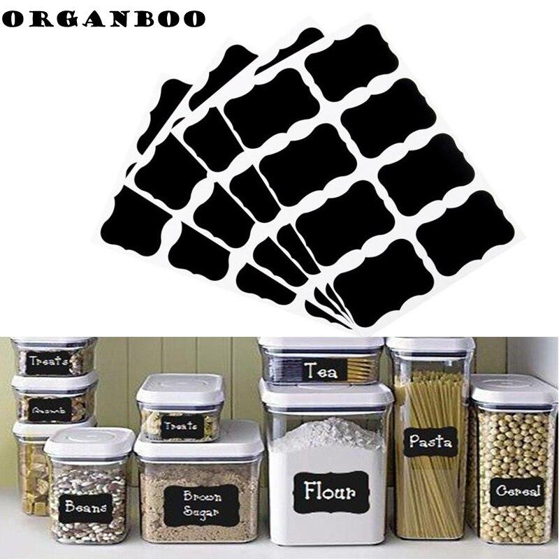 Labels Organizer Chalk-Board Kitchen-Jars Black Board-Tool 5cm-X-3.5cm Craft 32pcs/Set