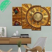 дешево!  4 Шт. Католическое Золото Patternwall арт-декора плакат старинные декоративные картины отпечатки  Лучший!