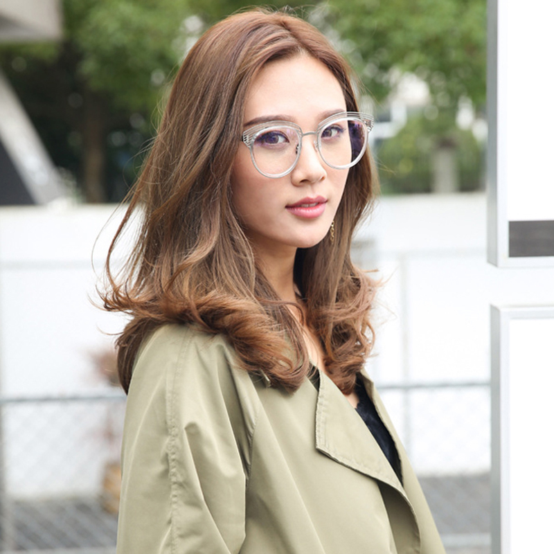 Pop Age Fashion Korean Cat Eye Clear Lens Glasses Women