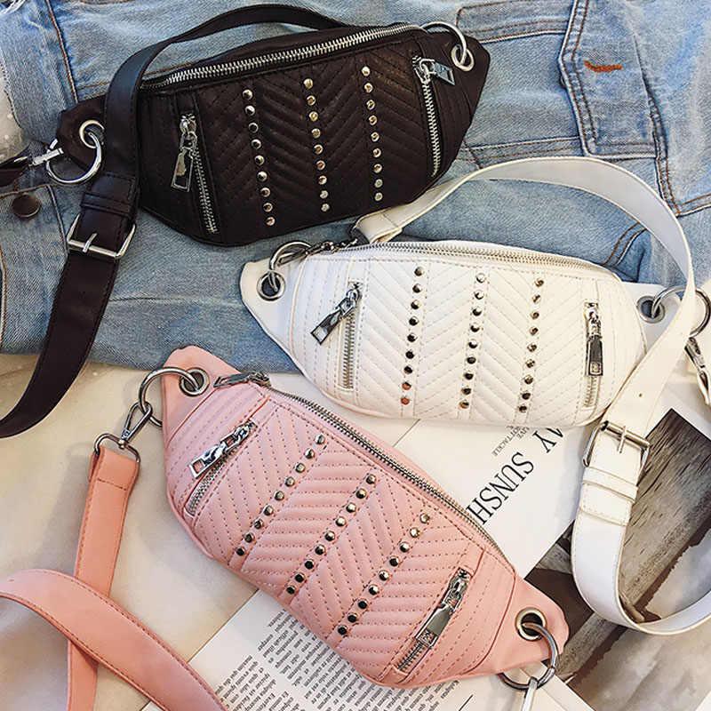 DAUNAVIA 女性のためのベルト胸女性ガールズレディースバッグ高品質バッグゾーン女性用ヒップウエストバンド女性