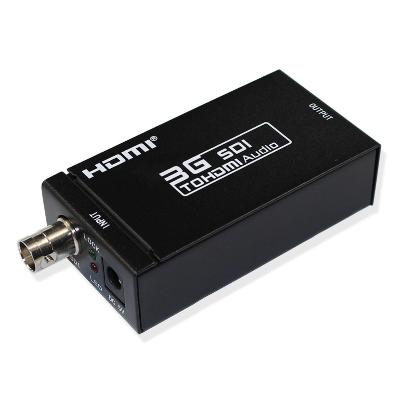 1 Piece SD-SDI HD-SDI 3G-SDI to HDMI Video Audio Converter Adapter 1080P with hdmi cable or adapter power