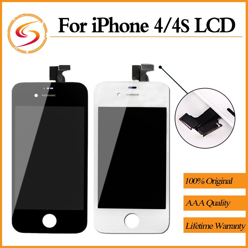 Prix pour 20 PCS/LOT Pour iPhone 4 4S LCD Avec Écran Tactile Digitizer Assemblée Affichage Remplacement Livraison Gratuite
