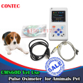 Vet pulse oximeterHandheld Veterinary Pulse Oximeter CMS60D-VET with Tongue SpO2 Probe+PC Software Contec for Amimals Pets Vet