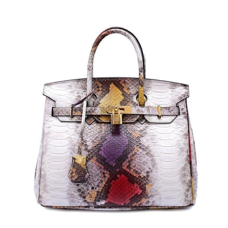 Famous Brand Luxury Handbag with Lock Women Crocodile Embossing Tote Bag Fashion Hand Bag Multi Color Handbag Ladies Evening Bag