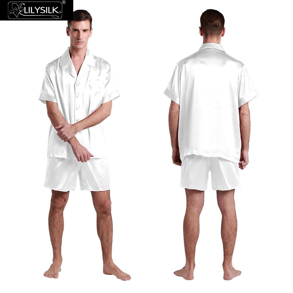1000-white-22-momme-classic-short-silk-pyjamas-set