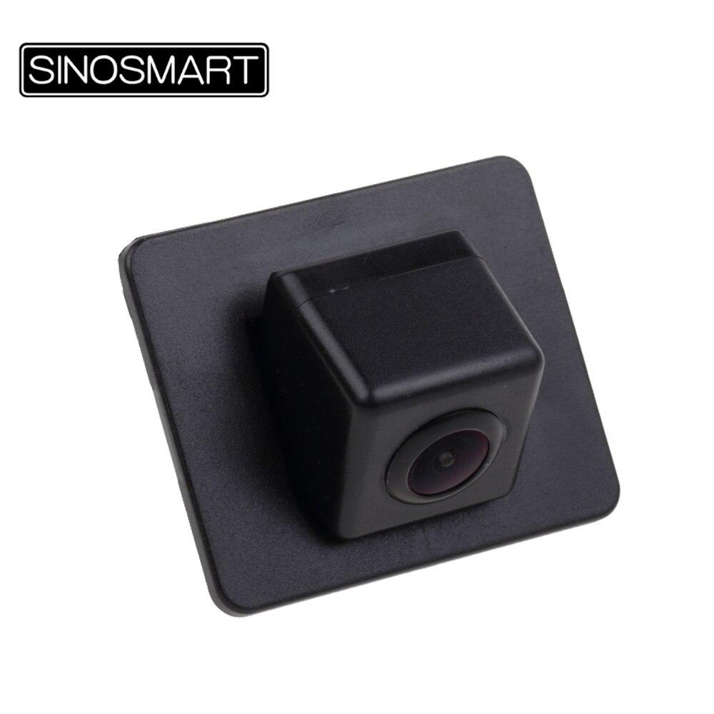 imágenes para Sinosmart en stock car cámara de marcha atrás aparcamiento para mazda axela sedan instalar en la fábrica original agujero de la cámara imagen de espejo
