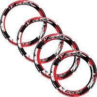 4 X Thick Edge Outer Rim Sticker Stripe Wheel reflective stickers Fit SUZUKI GSX S gsxs
