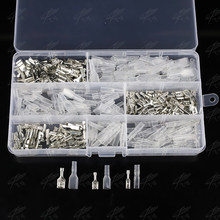 300Pcs 6.3/4.8/2.8 Insulated Electrical Wire Terminal Crimp Spade Electrical Connectors Assorted Set Cold press terminal(China)