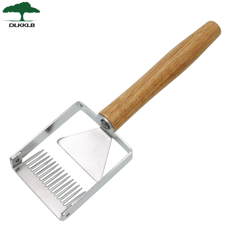 DLKKLB New Uncapping Fork Stainless Steel Honeycomb Honey Scraper Efficient Honey Cutting Beekeeping Tool Apicultura Equipment