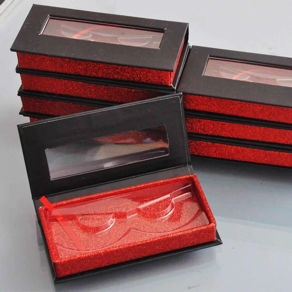 granel 20 pack atacado logotipo personalizado embalagem caixas de embalagem caixa de cilios falsos lash falso