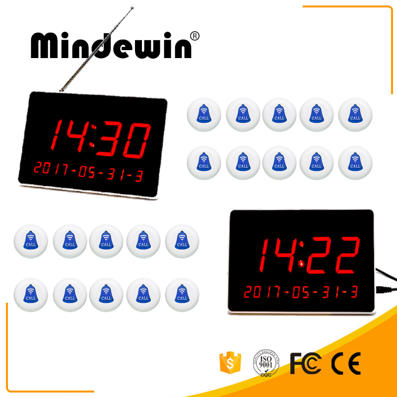 Cheapest Mindewin 2017 Restaurant Pager Wireless Calling System M-R-1 LED Display and M-K-1 Electronic Waterproof Calling ButtonCheapest Mindewin 2017 Restaurant Pager Wireless Calling System M-R-1 LED Display and M-K-1 Electronic Waterproof Calling Button