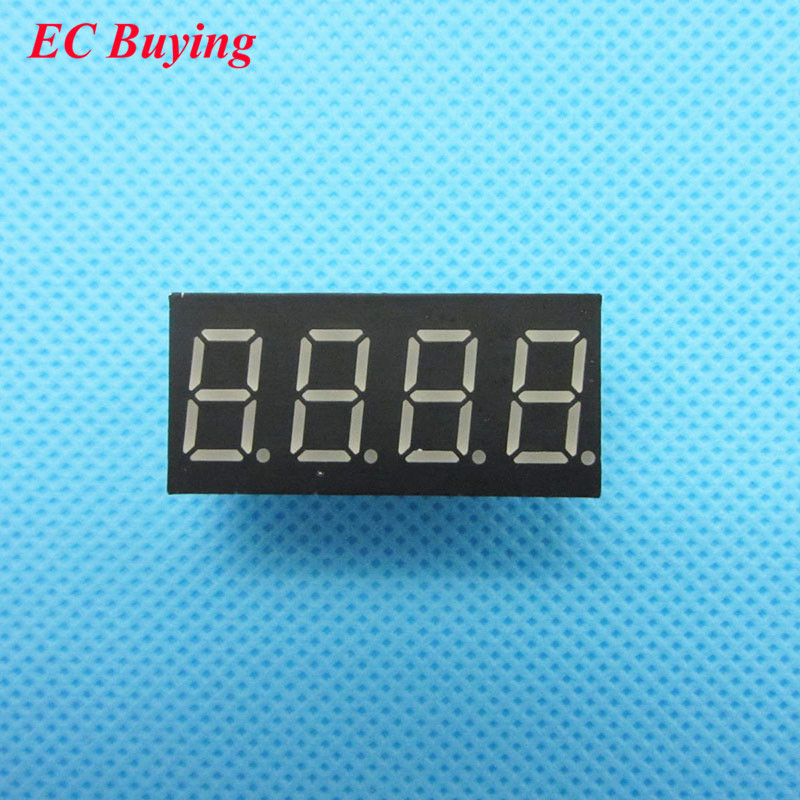 10pcs 4 Bit 4bit Digital Tube Common Cathode Digital Tube 0.36