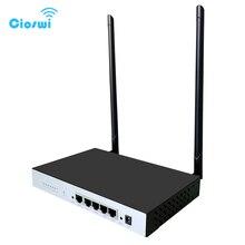 4 lan caja de metal inalámbrico wifi router repetidor 300Mbps con ethernet puertos 64MB módem de red