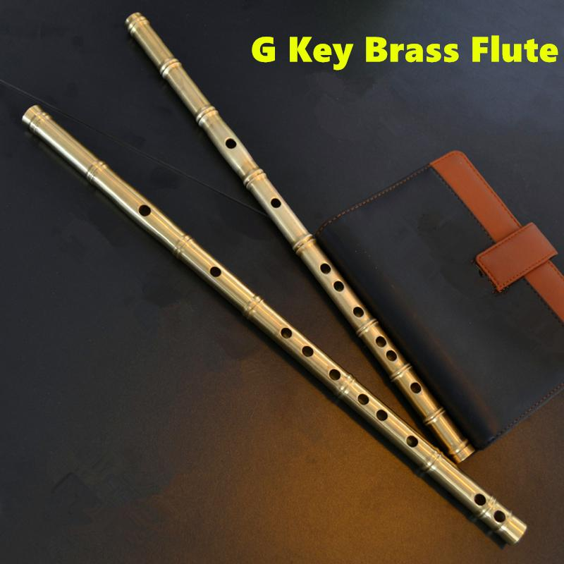 Brass Metal Flute Dizi G Key Metal Flauta Profesional Transverse Flute Musical Instruments Flauta Self-defense Weapon Flautas mini usb heater cooler fridge silver