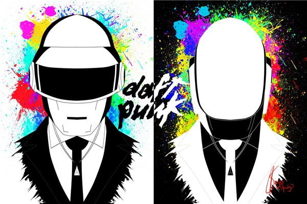 Popular dj wallpapers buy cheap dj wallpapers lots from for Daft punk mural
