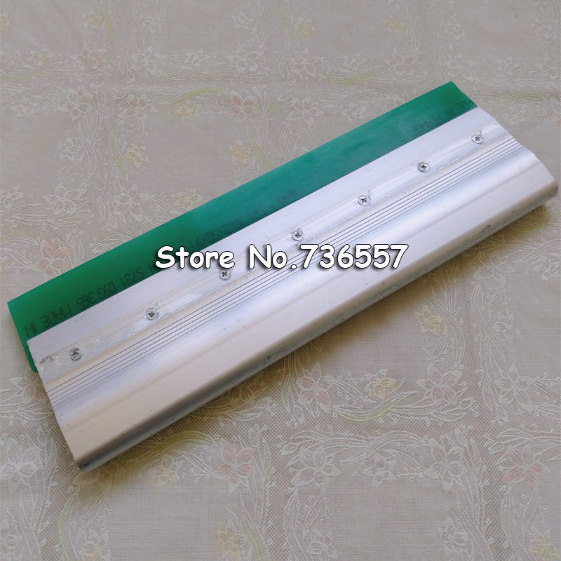 free Shipping 35cm Screen Printing Squeegee 13.8 Aluminium Alloy Handle Screen Print Flat Blade 75A free shipping aluminum alloy silk screen printing squeegee handle silk screen printing aluminum alloy with shipping cost fee