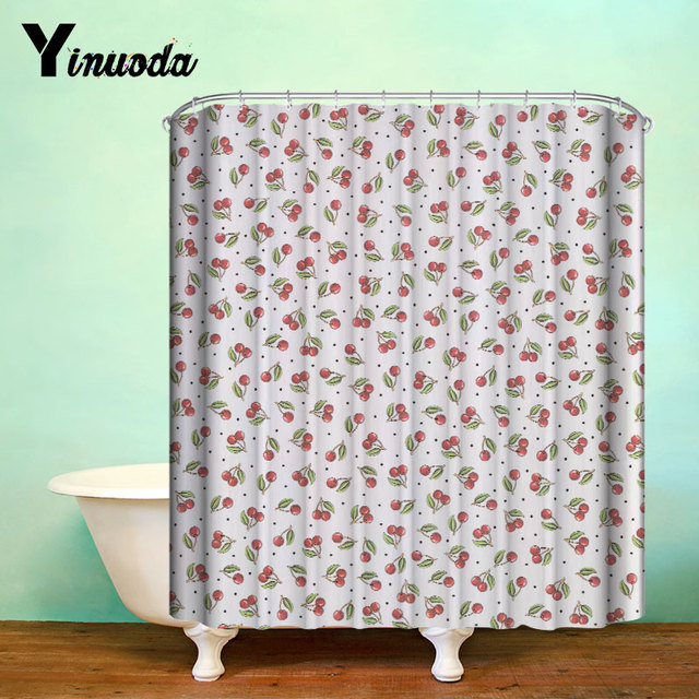 Yinuoda Waterproof Polyester Shower Curtain Eco Friendly Hooks Home  Bathroom Curtains Promotion 1Pcs 180*