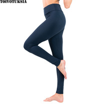 TOIVOTUKSIA Buttery Soft Large size Fitness Women Pants Solid Colour Slim High elastic Waist Stretch Female