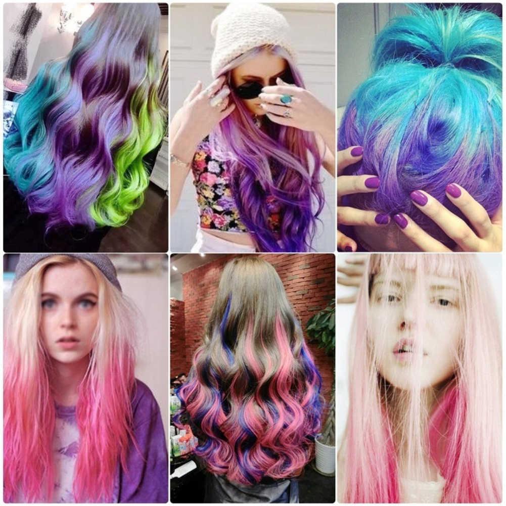 Pente colorido não tóxico para cabelo, conjunto de 6 cores para cosplay, para festa temporária, salão de beleza cera tslm2 fr/us/es