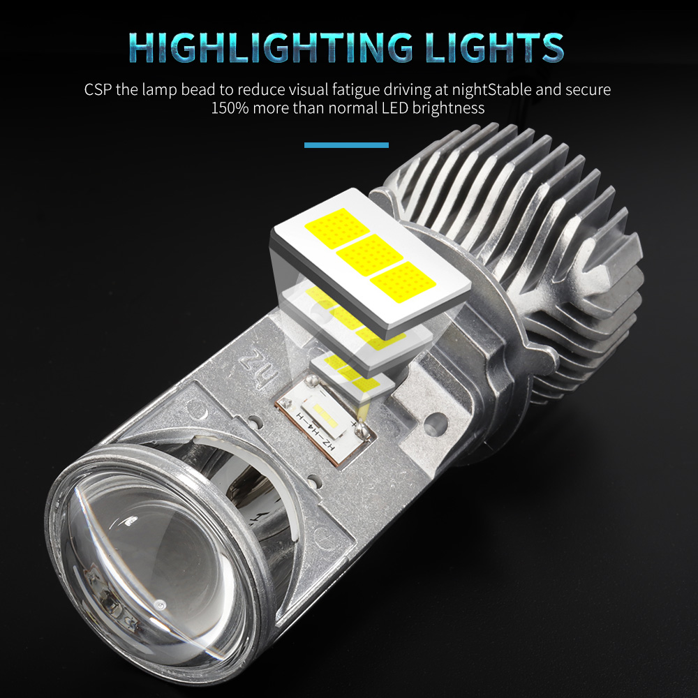 Image 5 - GZKAFOLEE 72W/Pair Lamp H4 LED Mini Projector Lens Automobles LED Bulb LED Conversion Kit Hi/Lo Beam Headlight 12V/24V 6000K-in Car Headlight Bulbs(LED) from Automobiles & Motorcycles