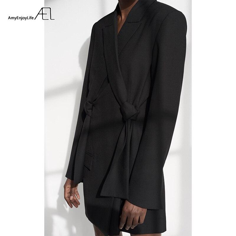 De Qualité Blazers Veste Ael Bowknot gris Manteau Printemps Nouveau Haute Automne Costumes Lady Élégant Mode Costume Blazer Avec Femelle Femmes Noir 2019 xPEEYqSw