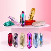 Rhinestone Sew In Crystal glass Long straight strip Stones for clothing Loose Rhinestones sew On Base Garment Jewelr