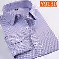 cotton obese extra large male casual Plaid Summer men's shirt long sleeve super large plus size 4XL5XL6XL7XL8XL 44 45 46 47 48