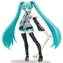 ZXZ Miku Hatsune Figma 014 PVC Figure Action Toys Collection Doll For Kids Girls Gifts Without