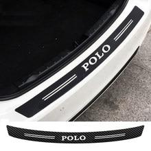 Adesivo traseiro do carro de fibra de carbono para volkswagen polo
