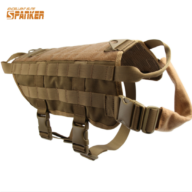 Military Tactical Patrol K9 Dog Training Harness Law Enforcement Dog Vest Hunting Airsoftsports Gear
