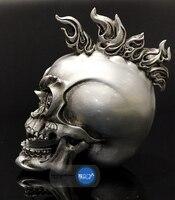 Punk Rock Decorative Skull Tattoo Bar Locomotive Halloween Ornaments Resin Cabochon Decoration