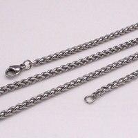 Zkd ширина 5 мм/0,12 дюймов 60 см цепочка из нержавеющей стали ожерелье для мужчин и женщин хорошее качество